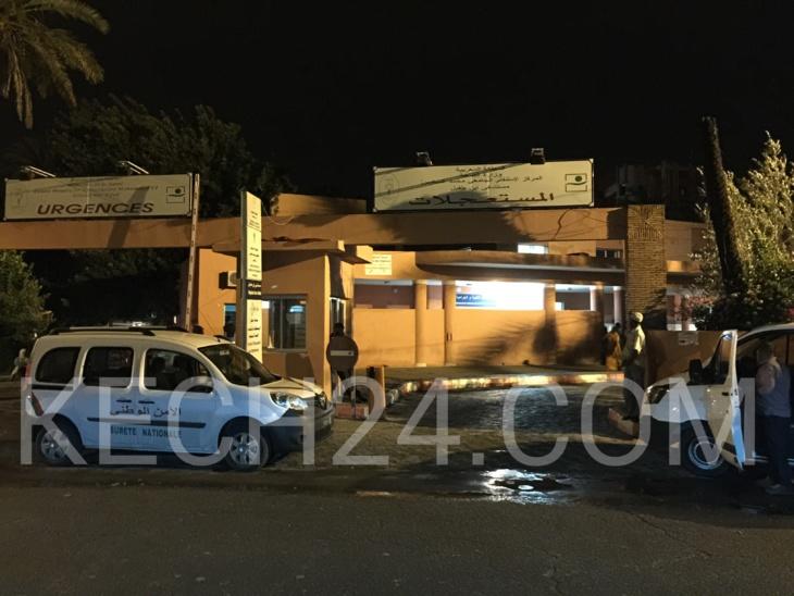 عاجل : نقل مصاب بطلقة بارود الى مستعجلات ابن طفيل بمراكش