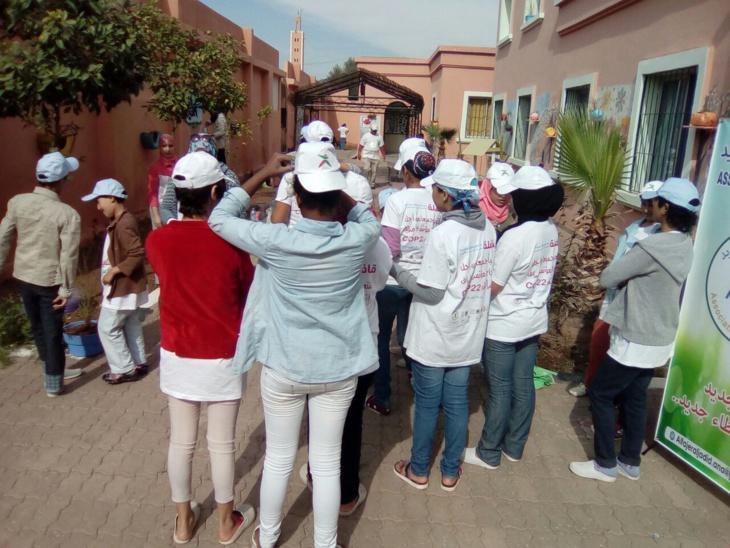 تنظيم نشاط تواصلي بيئي لفائدة نزيلات مركز حماية الطفولة بمراكش