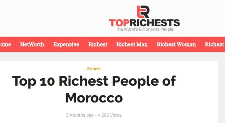 ما هي حقيقة الموقع الكاشف لثروات الشخصيات المغربية؟