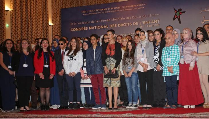 الأميرة للا مريم تترأس بمراكش الدورة ال15 للمؤتمر الوطني لحقوق الطفل + صور