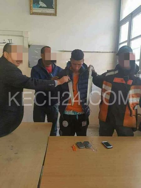 بالصور : أمن مراكش يعتقل مجرم خطير روع ساكنة المدينة العتيقة
