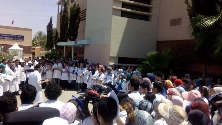طلبة بكلية الطب والصيدلة بمراكش يدخلون في إضراب مفتوح انطلاقا من هذا التاريخ