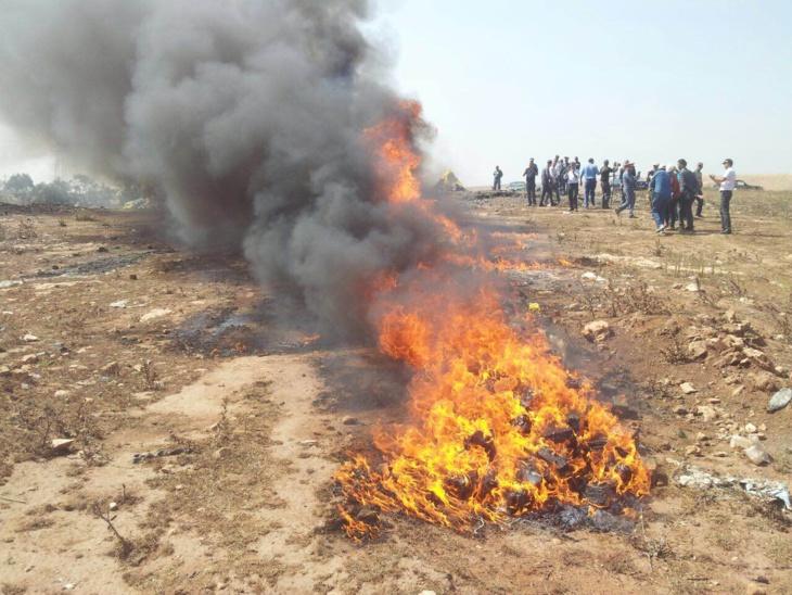 حرق وإتلاف أربعة أطنان ونصف من مخدر الشيرا ومجموعة من المواد المحجوزة