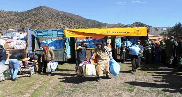 مؤسسة محمد الخامس للتضامن توزع مساعدات على 2379 أسرة بالموازاة مع موجة البرد
