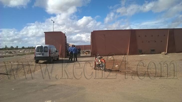 بالصور: إتلاف دجاج نافق تم ضبطه بأحد الأسواق بمراكش