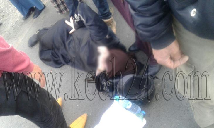 إصابة سيدة بكسر في حادثة سير بحي العزوزية بمراكش + صورة