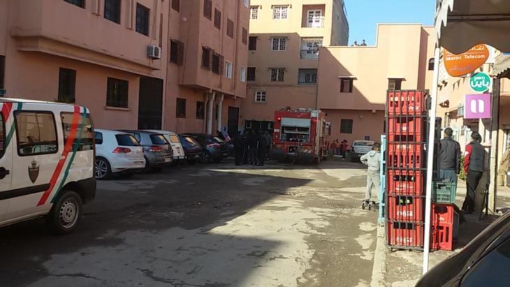 عاجل: اندلاع حريق في شقة بمراكش + صور