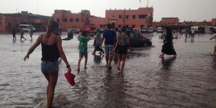 هذه مقاييس التساقطات المسجلة بمراكش وباقي مدن المملكة خلال الـ 24 ساعة الماضية
