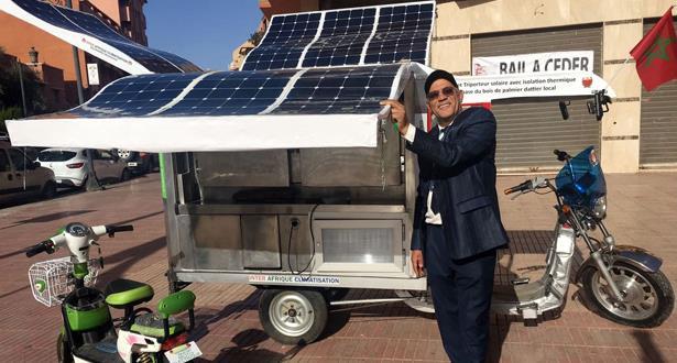 إنجاز أول دراجة مبردة ثلاثية العجلات تعمل بالطاقة الشمسية في المغرب