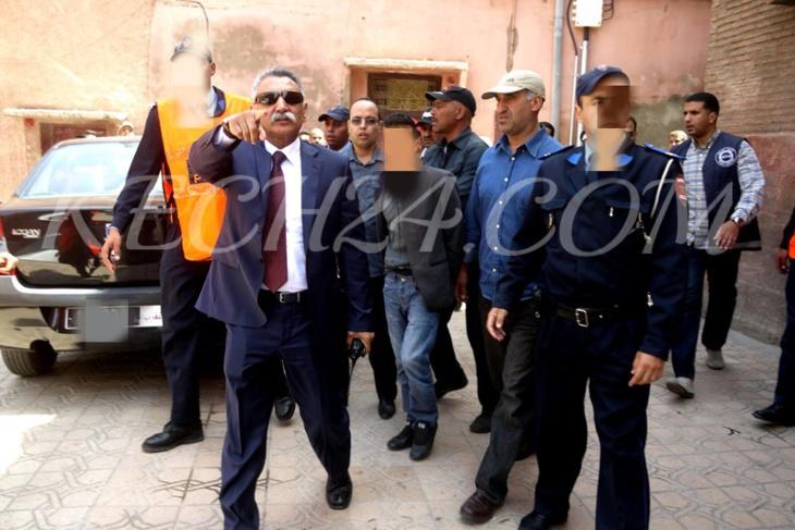 مكوار يقود عملية أمنية واسعة النطاق بحي سيدي يوسف بن علي بمراكش