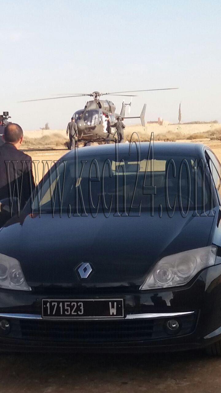 بعثة ملكية على متن طائرة مروحية تحل بسيدالزوين ضواحي مراكش + صور