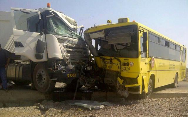 حافلة تصطدم بسيارة وشاحنة بضواحي قلعة السراغنة