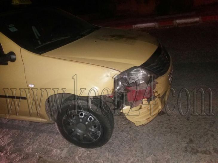 حادثة سير خطيرة بحي جليز بمراكش جراء اصطدام بين سيارة وطاكسي صغير + صور