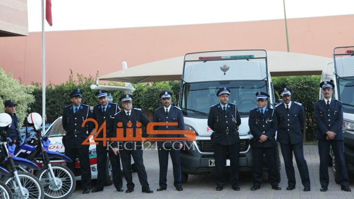 بالصور: بداية انتشار عناصر الأمن بشوارع وساحات مراكش لمواكبة احتفالات
