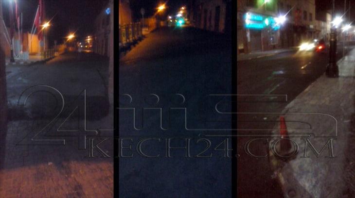 الأشغال تتواصل في ساعات متأخرة من الليل بمراكش ترقبا لمرور الملك + صور