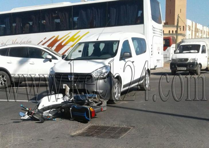 إصابة سائق دراجة