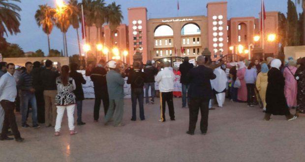 عودة الاحتجاجات أمام مقر عمالة قلعة السراغنة