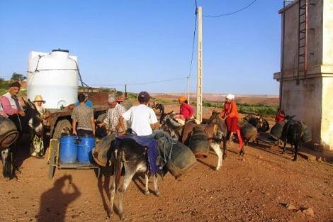 العطش يخرج سكان دواوير أولاد طوك بإقليم قلعة السراغنة للإحتجاج
