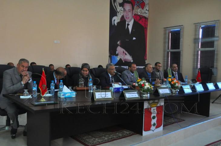 والي جهة مراكش يترأس تقديم برنامج عمل الجماعات الترابية لدائرة الاوداية + صور