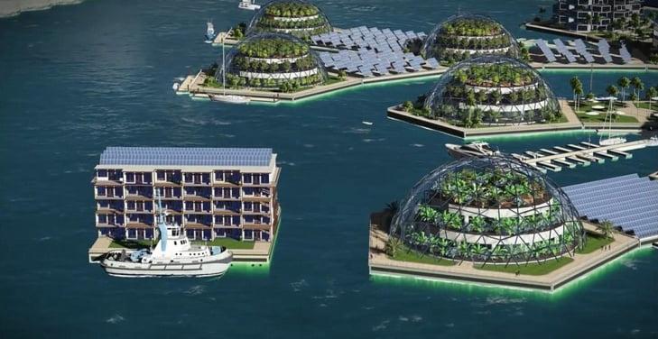 الكشف عن خطط بناء أول مدينة عائمة في العالم + فيديو