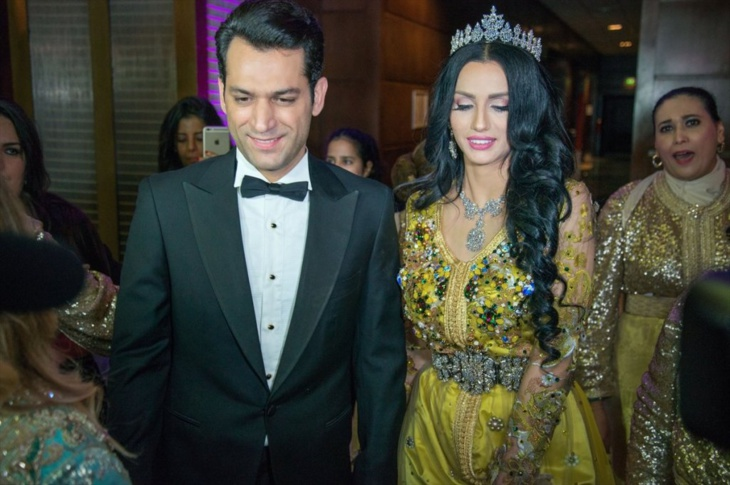 """بالصور: التركي """"مراد يلدريم"""" والمغربية إيمان الباني يُقيمان حفل زفافهما الثاني بالمغرب + فيديو"""