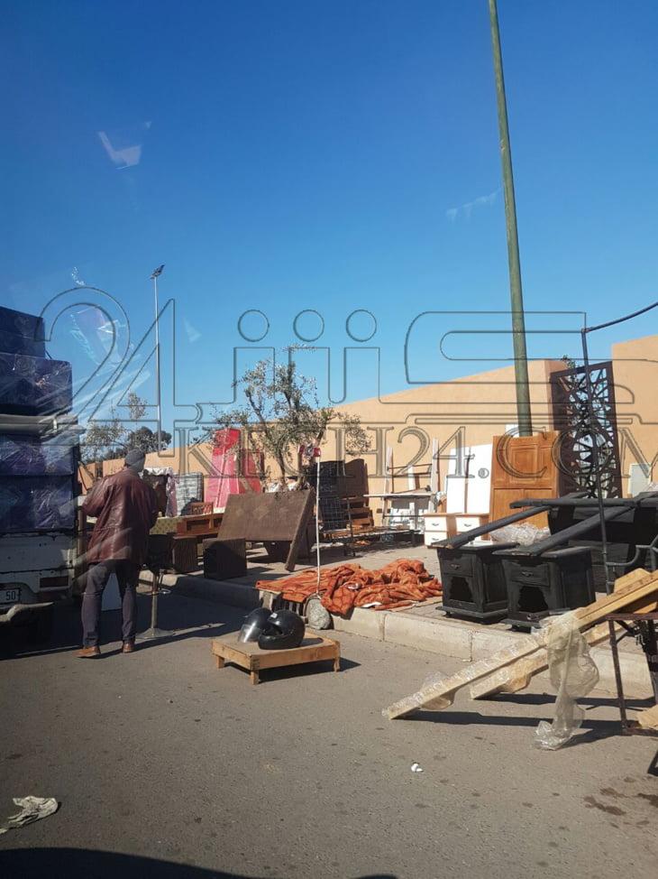 تواصل احتلال الملك العام بدوار العسكر بمراكش يؤرق الساكنة + صور