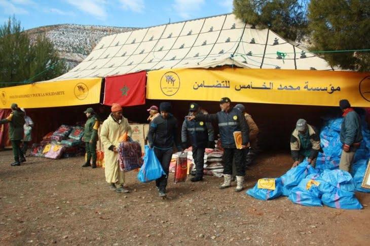 توزيع مساعدات لفائدة 2000 أسرة بإقليم الحوز لمواجهة موجة البرد القارس + صور