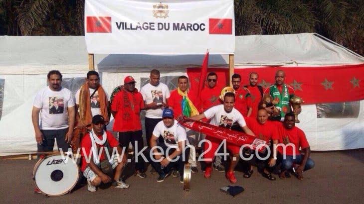 جماهير مراكش تساند الفريق الوطني بقوة بمدرجات ملعب