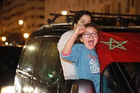 احتفالات بقلعة السراغنة بعد تأهل المغرب إلى ربع نهائي الكان