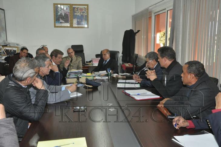 ولاية الجهة تحتضن إجتماعا للاستعداد لماراطون مراكش الدولي + صور