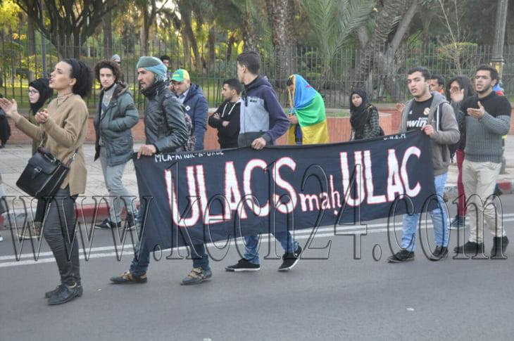 عاجل: مسيرة احتجاجية للأمازيغ بمراكش في الذكرى الأولى لاغتيال عمر خالق + صور