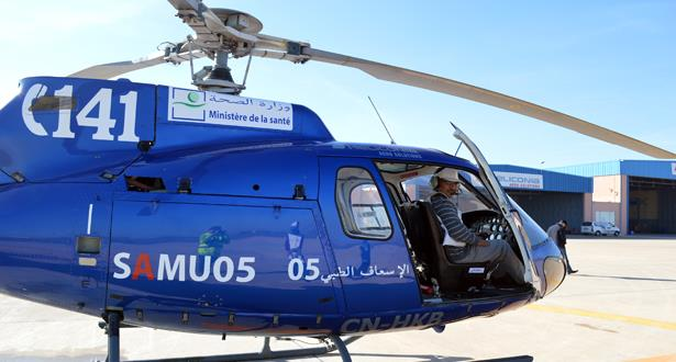 المروحيات الطبية التابعة لوزارة الصحة تواصل تدخلاتها لإنقاذ حالات صحية حرجة
