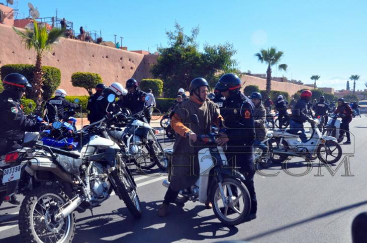 بالصور: أمن مراكش يوقف مسيرة أصحاب درجات سـ90 الغاضبين
