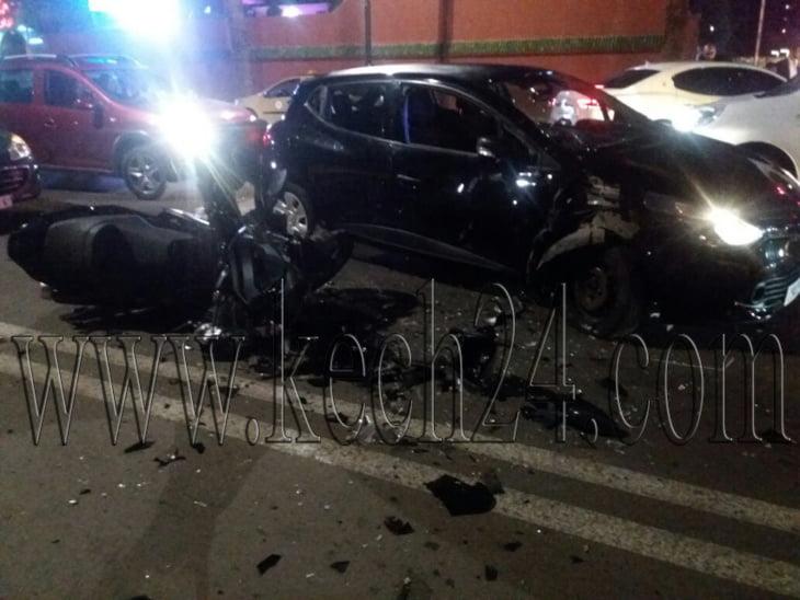 إصابة شخص بجروح خطيرة وخسائر مادية في حادثة سير بمراكش + صورة