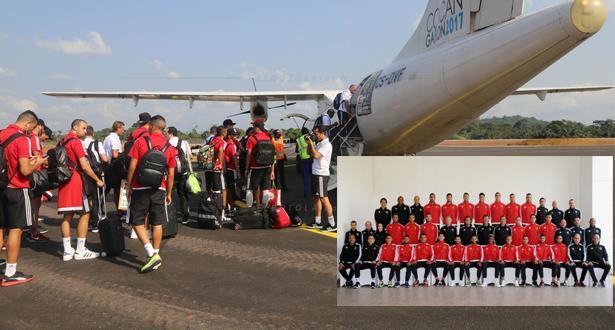 بعثة المنتخب الوطني تغادر الغابون في اتجاه المغرب رفقة أربعة لاعبين فقط