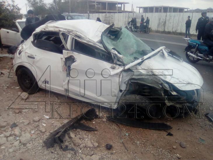 عاجل: حادثة سير خطيرة بحي المصمودي بمراكش + صور