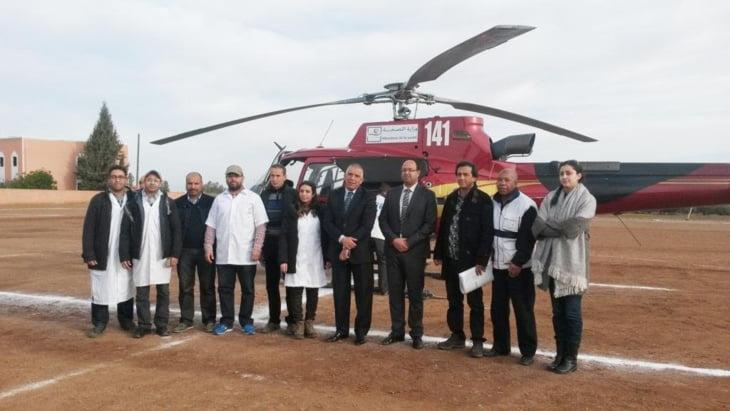 عامل إقليم الحوز عمر التويمي يشرف على القافلة الطبية التي استفاد منها مئات المواطنين بأعالي جبال أوكايمدن
