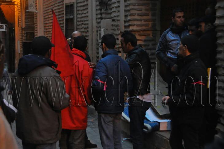 انفراد: هذا ما ضبطته اللجنة المختلطة داخل الفندق الذي احتجز صاحبه عمالا بمراكش + صور