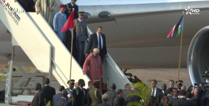 الملك محمد السادس يحل بجوبا في زيارة رسمية لجمهورية جنوب السودان + فيديو