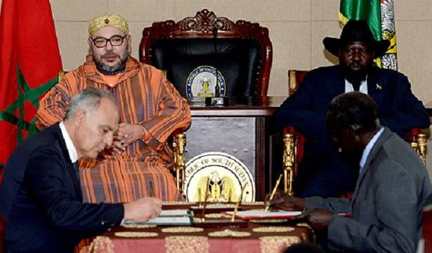 الملك محمد السادس ورئيس جنوب السودان يترأسان مراسيم التوقيع على تسع اتفاقيات للتعاون الثنائي