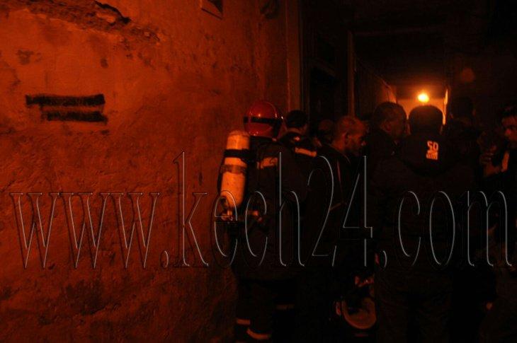 اندلاع النيران في رياض بالمدينة العتيقة لمراكش + صور