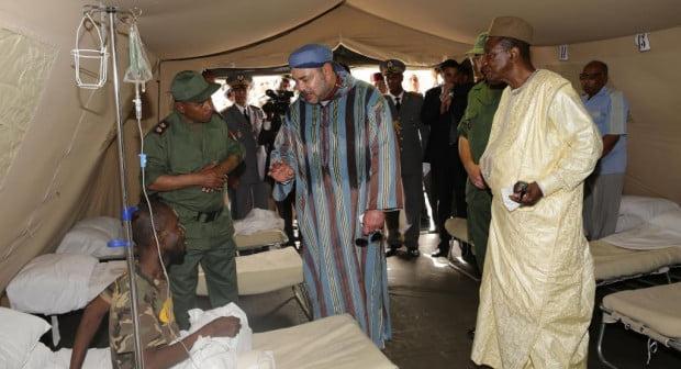 الملك محمد السادس يزور المستشفى الميداني للقوات المسلحة الملكية المقام بجوبا