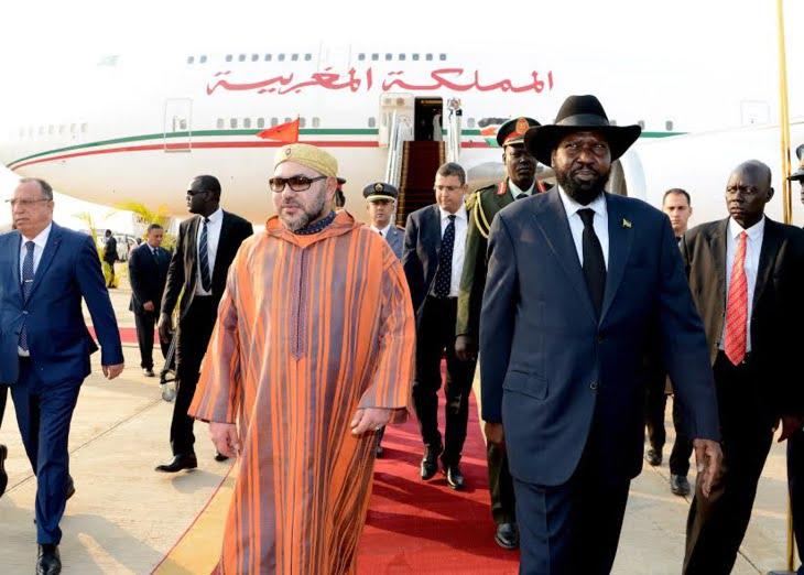 الملك محمد السادس يزور ضريح جون كرانغ زعيم استقلال جنوب السودان