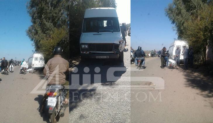 عاجل: حادثة سير خطيرة ترسل شابين على متن س90 الى المستعجلات بمراكش