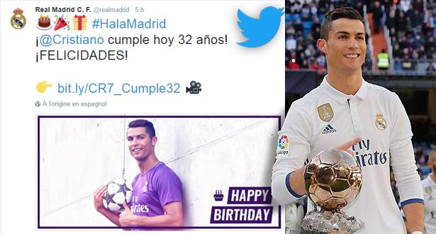 ريال مدريد يحتفي بإنجازات كريستيانو رونالدو في عيد ميلاده الـ 32