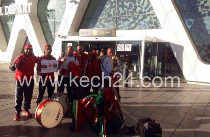 مشجعو المنتخب الوطني المغربي يقدمون رسالة لوالي جهة مراكش آسفي