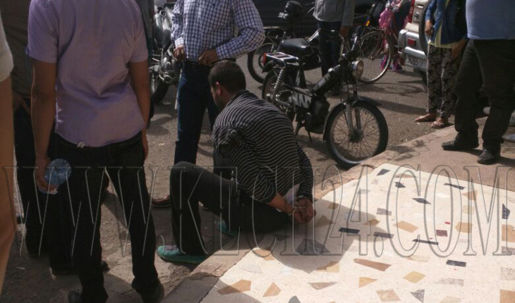 مواطنون باليوسفية ينوبون عن الشرطة في اعتقال لصوص