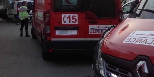 عاجل : انقلاب حافلة لنقل السجناء بمراكش وسيارات الاسعاف تنقل الجرحى للمستعجلات