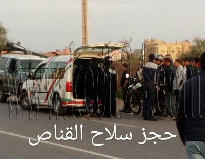بالصور: هكذا تم اعتقال القناص الذي روّع حي العزوزية بواسطة بندقية بمراكش