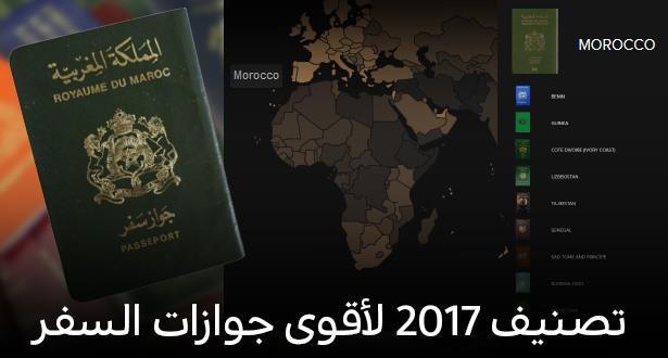 تصنيف جديد لجواز السفر المغربي عربيا وعالميا